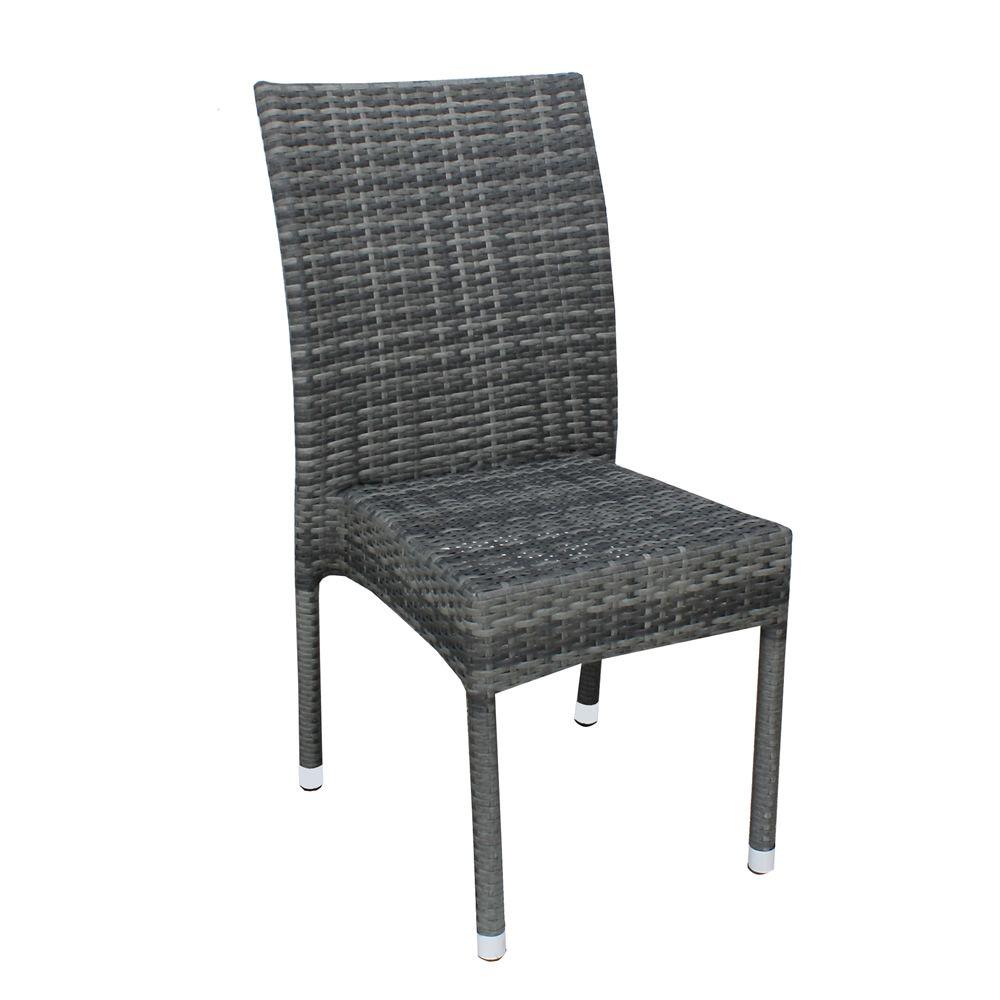 a80e chaise en aluminium et simili rotin pour ext rieur. Black Bedroom Furniture Sets. Home Design Ideas