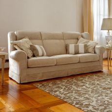 Giunone - Divano classico a 2 posti, 2 posti XL o 3 posti, anche divano-letto, completamente sfoderabile