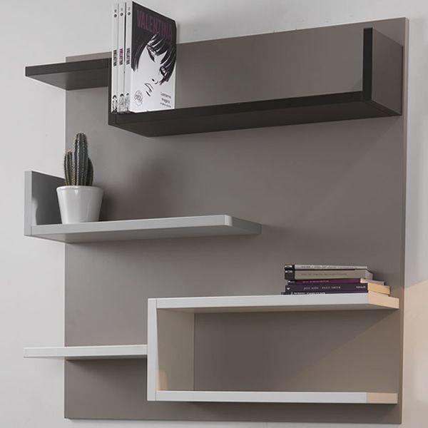 myshelf - libreria da parete in laminato, in diversi colori ... - Colori Pareti Grigio Tortora