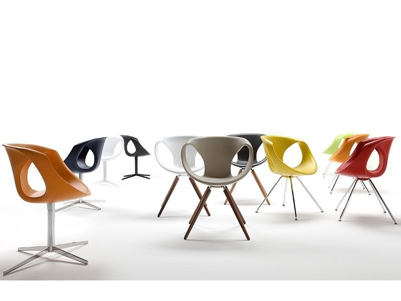 Up Chair 2 - Sedia design di Tonon, girevole, in metallo e ...