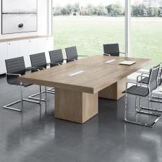 T-Desk Meet - Tavolo da riunione, in laminato, disponibile in diverse dimensioni e finiture