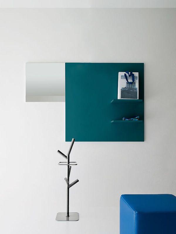 Cinquanta 7 mobile ingresso con mensole e specchio disponibile in diversi colori sediarreda - Mobile d ingresso ...