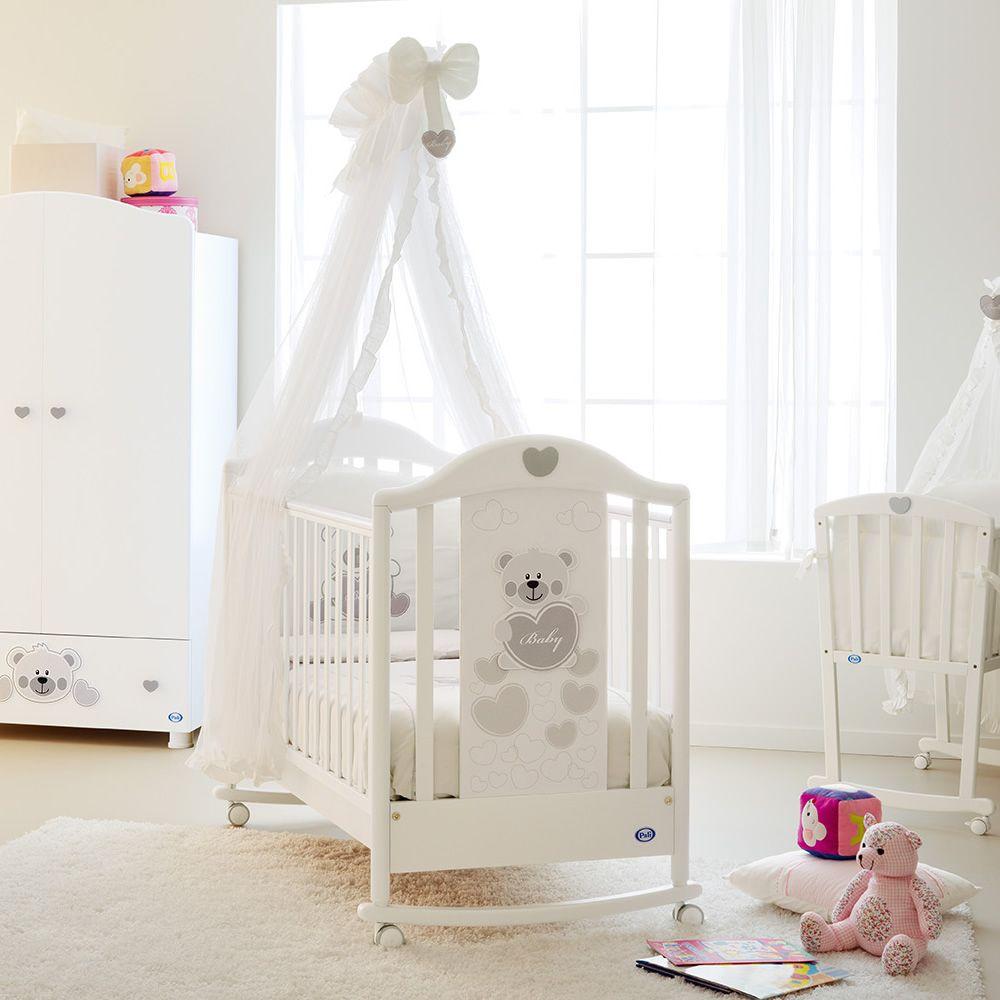 Lit Bébé En Bois Avec Tiroir : Funny lit bébé pali en bois hêtre avec tiroir sommier à