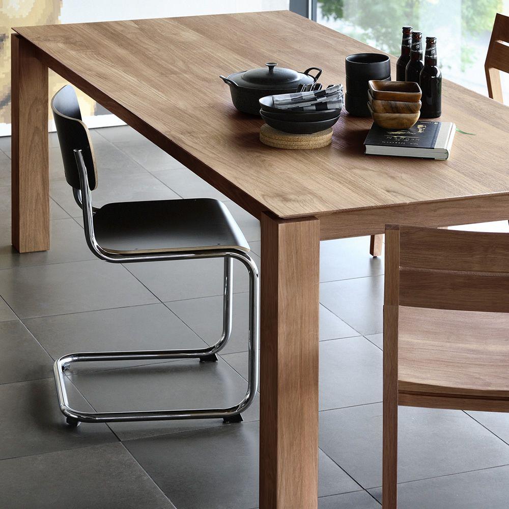slice table fixe ethnicraft en bois disponible en diff rentes finitions et dimensions sediarreda. Black Bedroom Furniture Sets. Home Design Ideas
