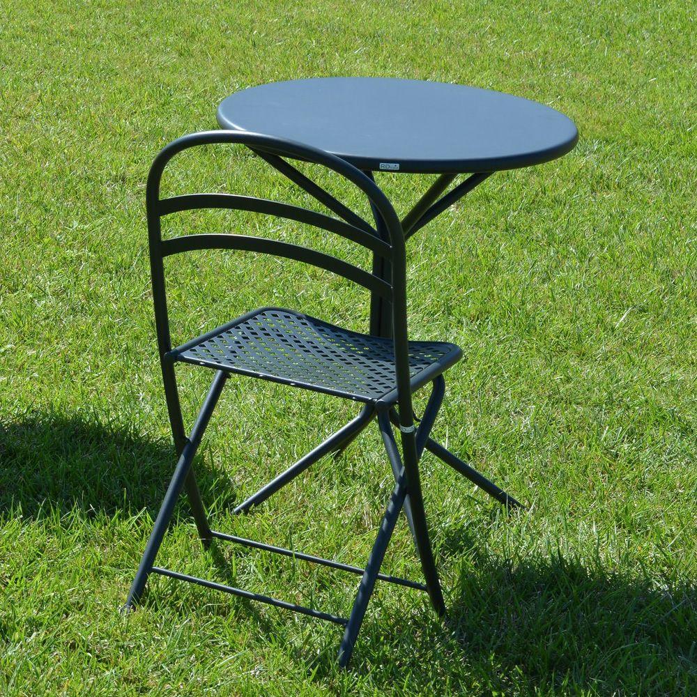 rig83 runder tisch aus metall durchmesser 60 cm in verschiedenen farben verf gbar f r garten. Black Bedroom Furniture Sets. Home Design Ideas