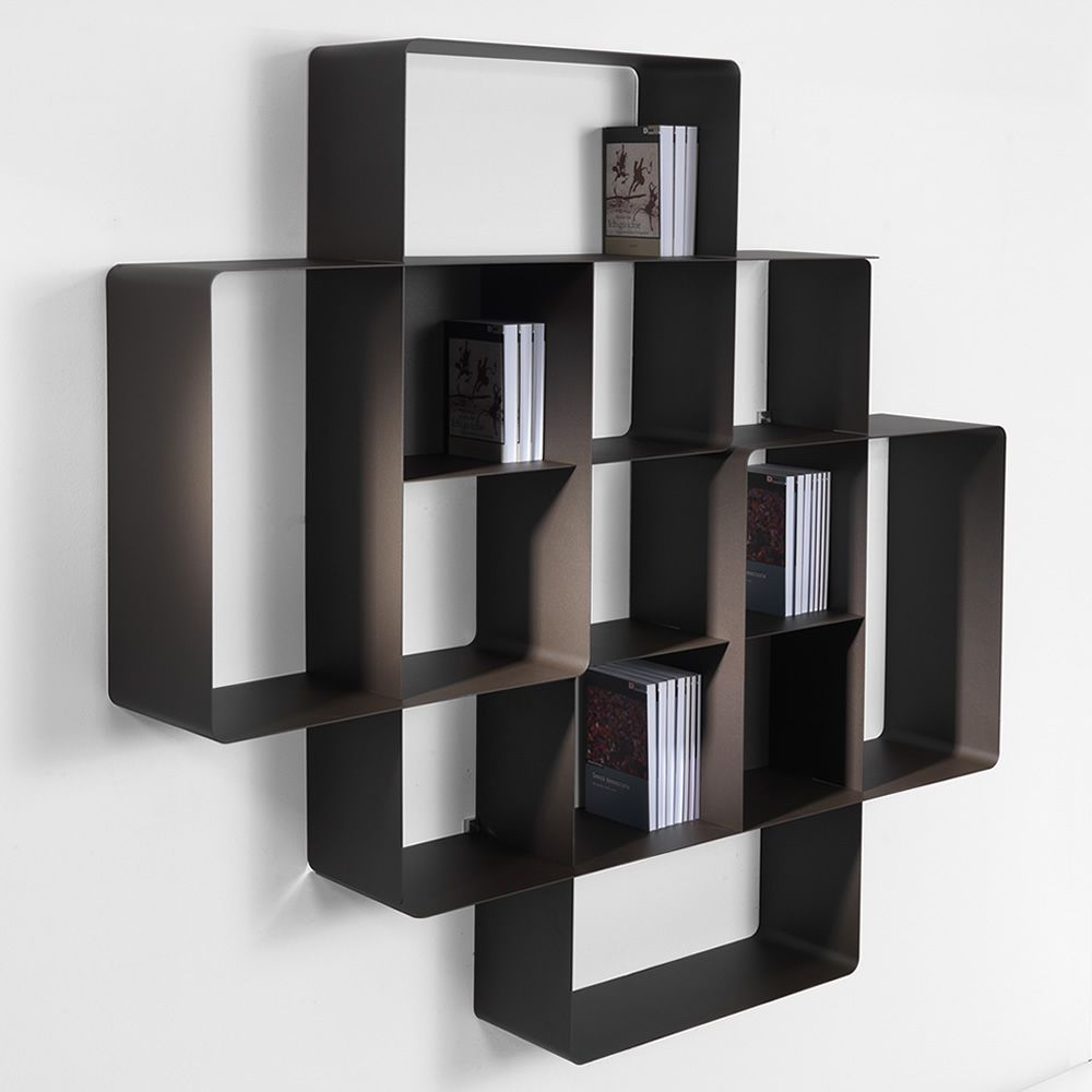 mondrian c2 kombinierbares b cherregal aus lackiertem metall sediarreda. Black Bedroom Furniture Sets. Home Design Ideas