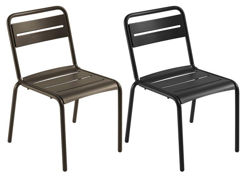 Star sedia emu in metallo per giardino impilabile sediarreda