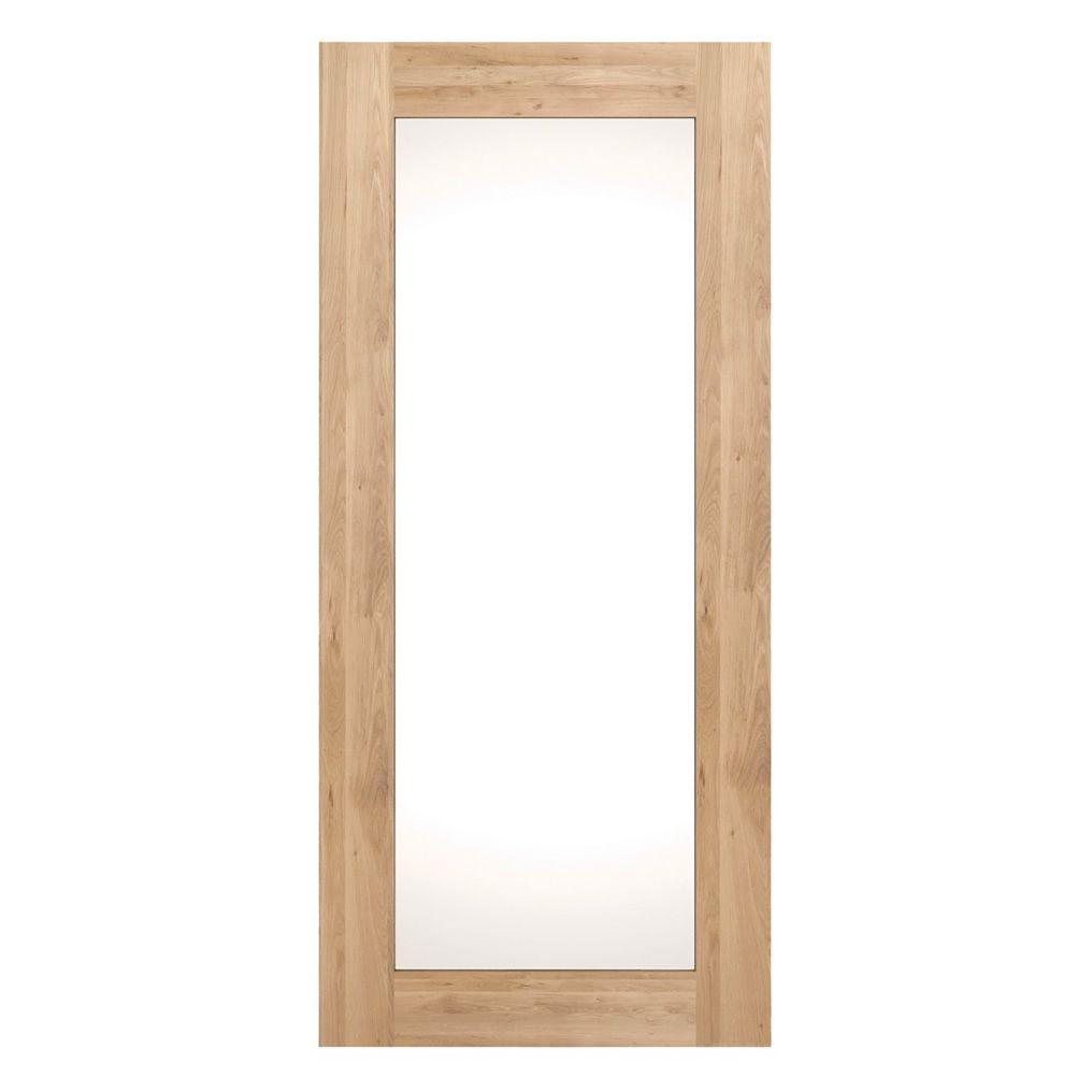 Miroir cadre bois for Miroir mural rectangulaire bois