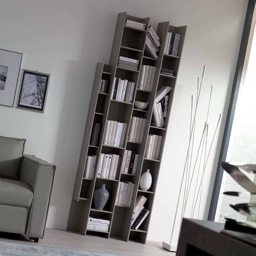 Byblos libreria modulare da parete in legno for Libreria modulare