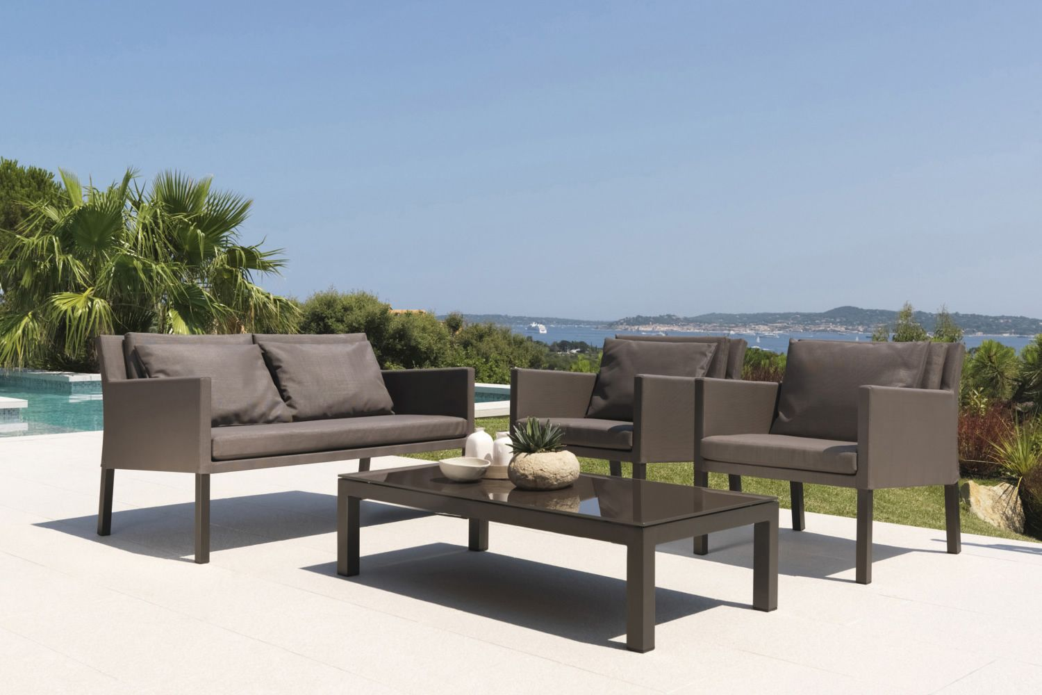 Step set juego de design para jard n sof 2 sillones y for Sofa jardin oferta