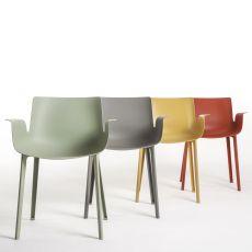 Piuma - Kartell Design-Stuhl aus Technopolymer, in verschiedenen Farben verfügbar, auch für Garten