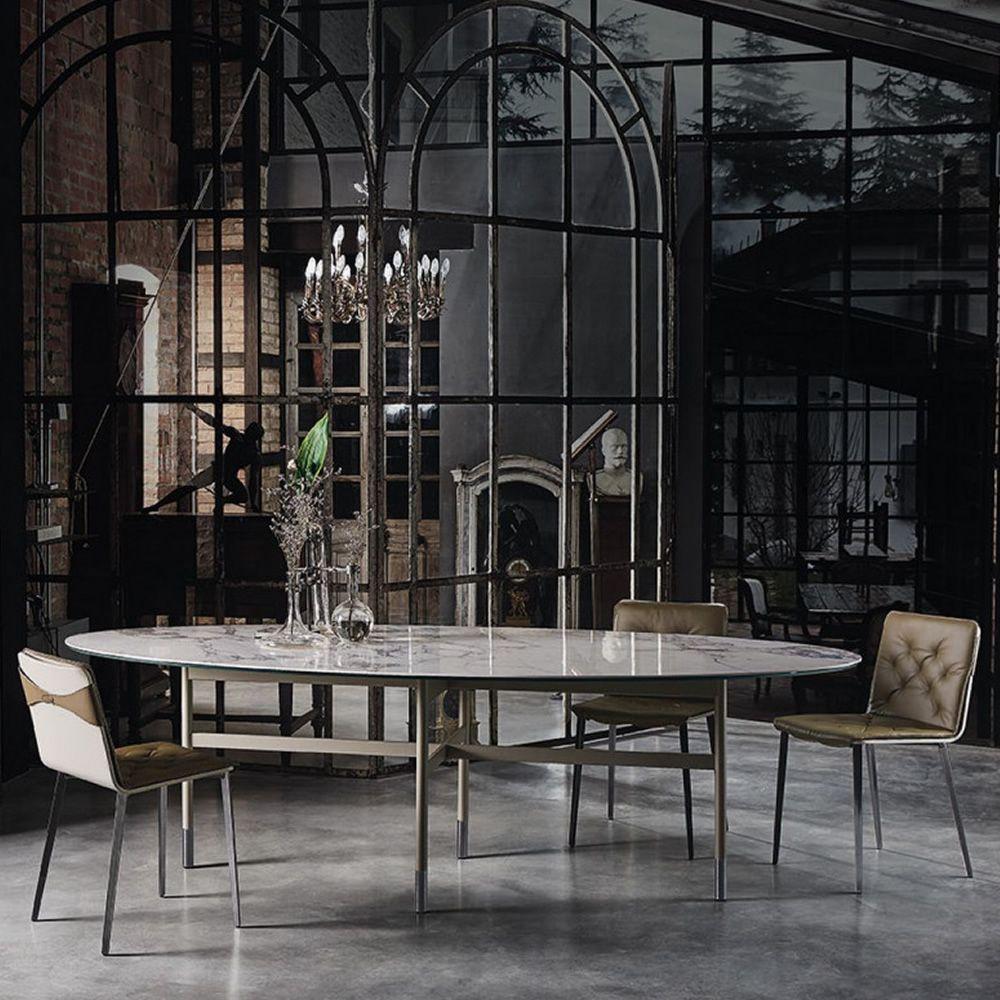 Glamour tavolo di design di bontempi casa in metallo for Tavolo di design in metallo