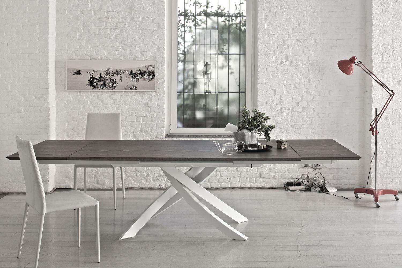artistico wood ext table design de bontempi casa rallonges 160 240 x90 cm comportant un. Black Bedroom Furniture Sets. Home Design Ideas