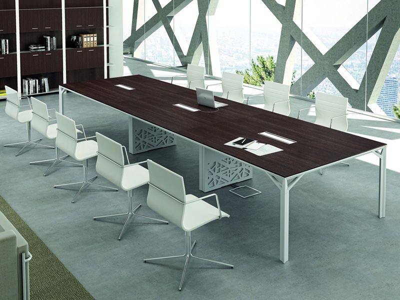 Office X8 Meet Large Boardroom Table In Metal And Laminate