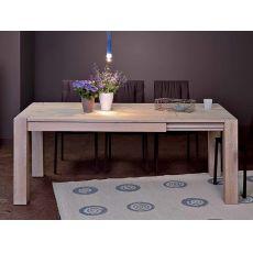 VR60 - Table à rallonges en bois, disponible en différentes finitions et dimensions