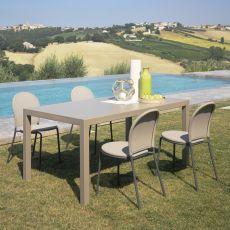Cloud - Mesa de metal, extensible, disponible en distintos tamaños y colores, para jardín
