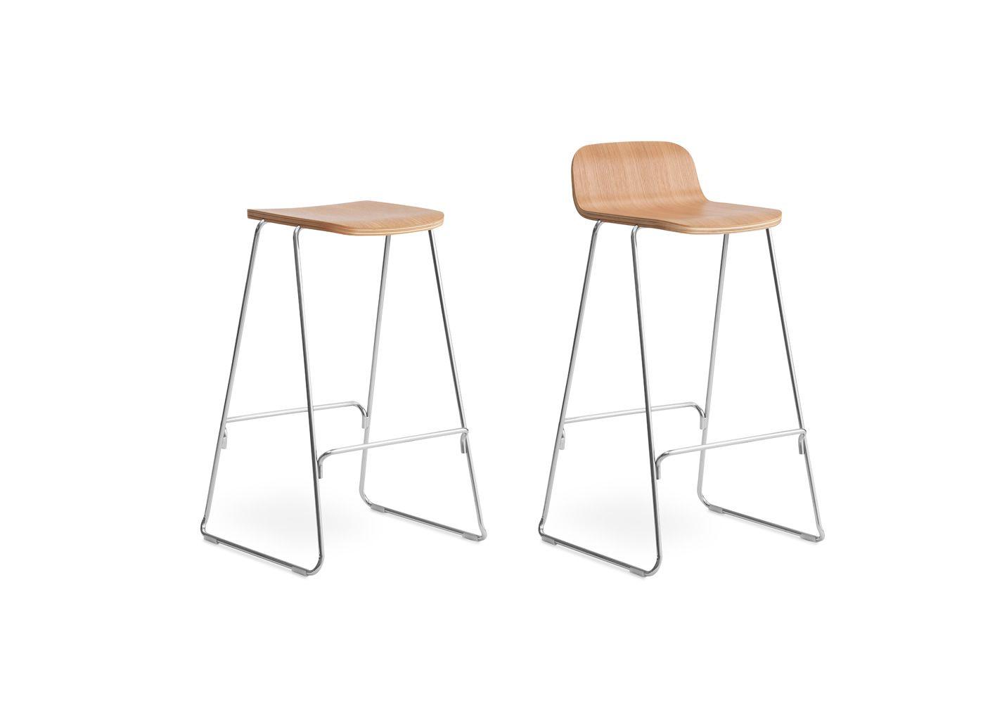 just sg  normann copenhagen metal stool  wooden seat