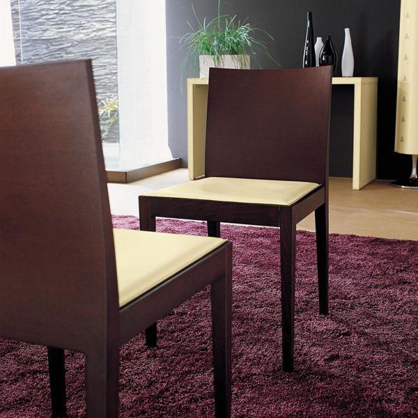 Jump sedia midj in legno con seduta in rigenerato di for Sedie cuoio rigenerato