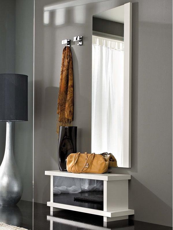 Pa252b mobile ingresso moderno con specchio e appendini - Specchio per ingresso moderno ...
