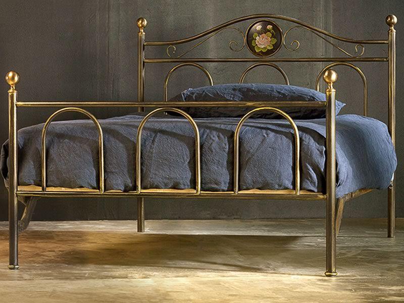 Lavinia 120 cama de una plaza y media de hierro con for Cama hierro