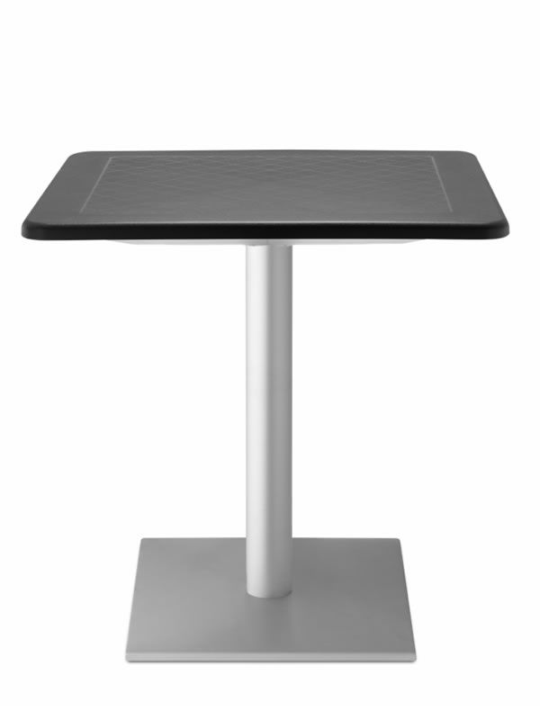 dodo 2191: table for outdoor with 70x70 or 80x80 cm top, metal and