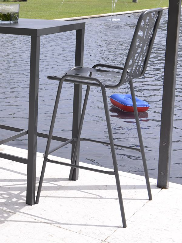 rig71h hocker aus metall stapelbar f r garten sitzh he 75 cm sediarreda. Black Bedroom Furniture Sets. Home Design Ideas