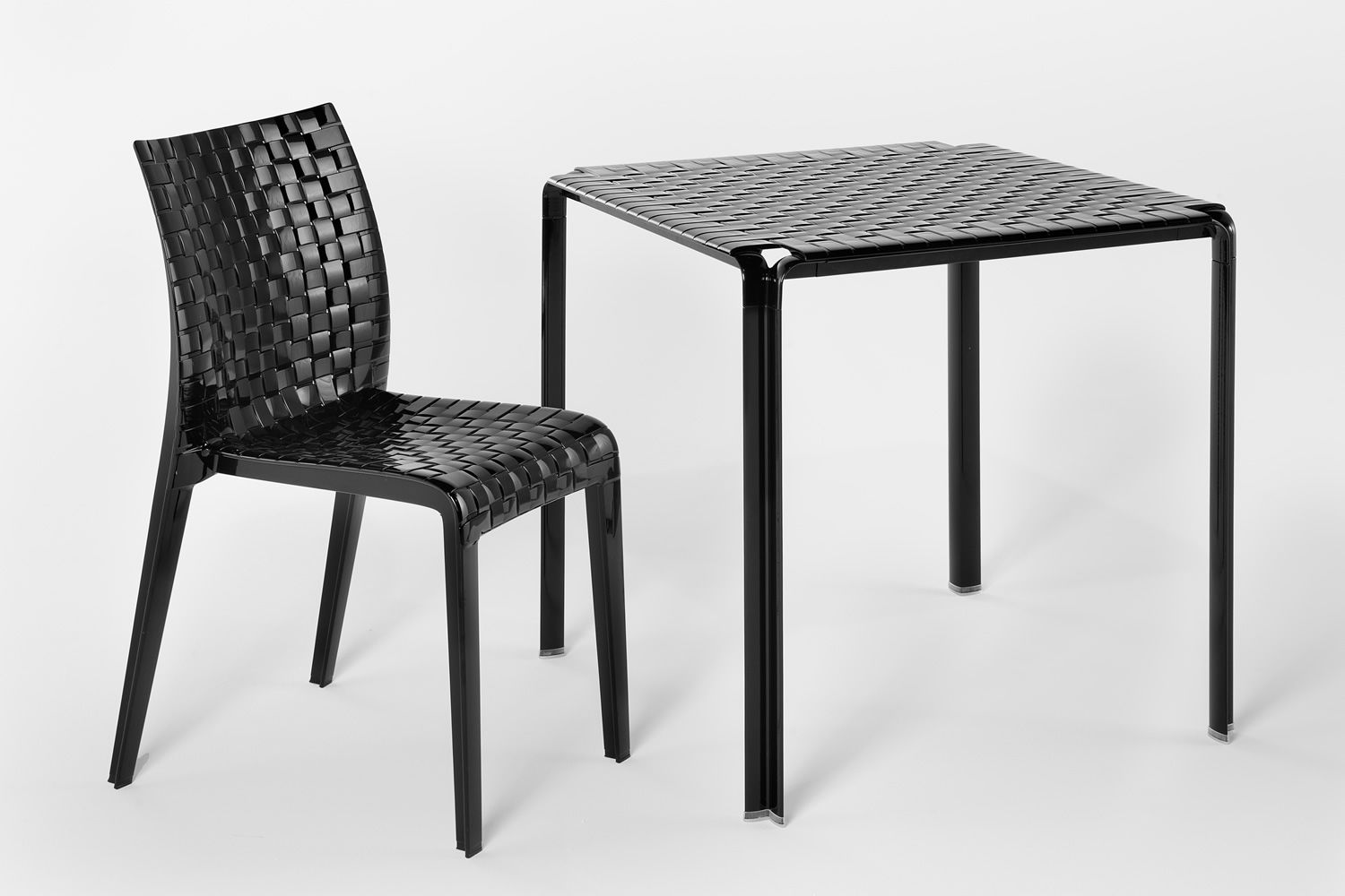 Superb Ami Ami Table | Metal Table With Black Polycarbonate Top Matching With Ami  Ami Chair