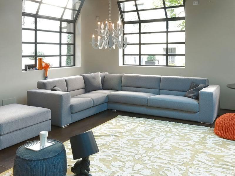 Matrix a   divano moderno a 3 posti maxi con angolare e cuscini ...