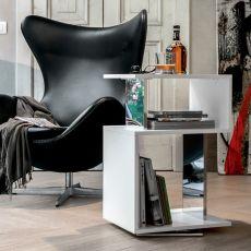 Airone 6272 - Tavolino girevole Tonin casa in legno, diverse finiture disponibili
