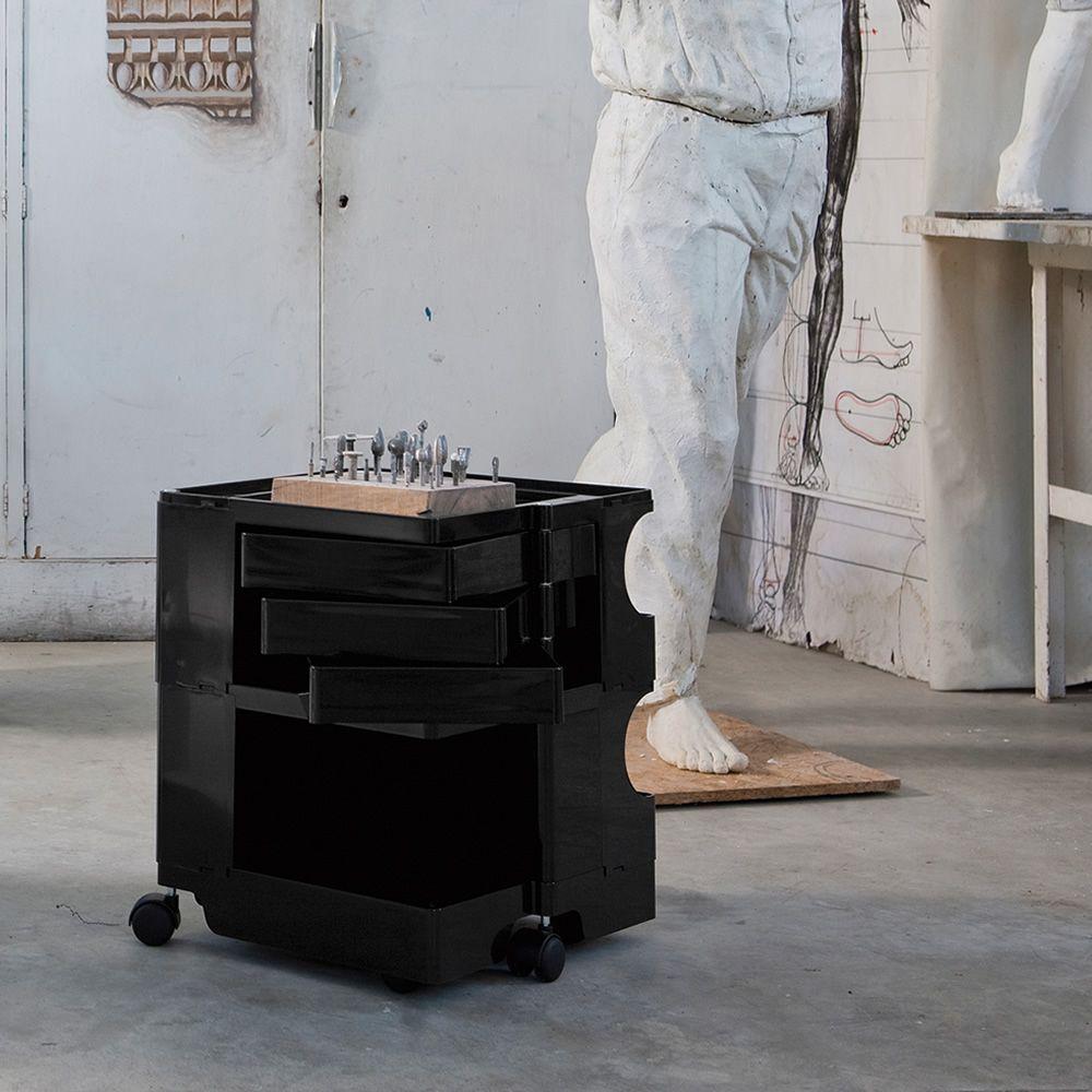 Rollcontainer metall schwarz  Boby: Designer Rollcontainer von B-Line, mit Schubladen und Rollen ...