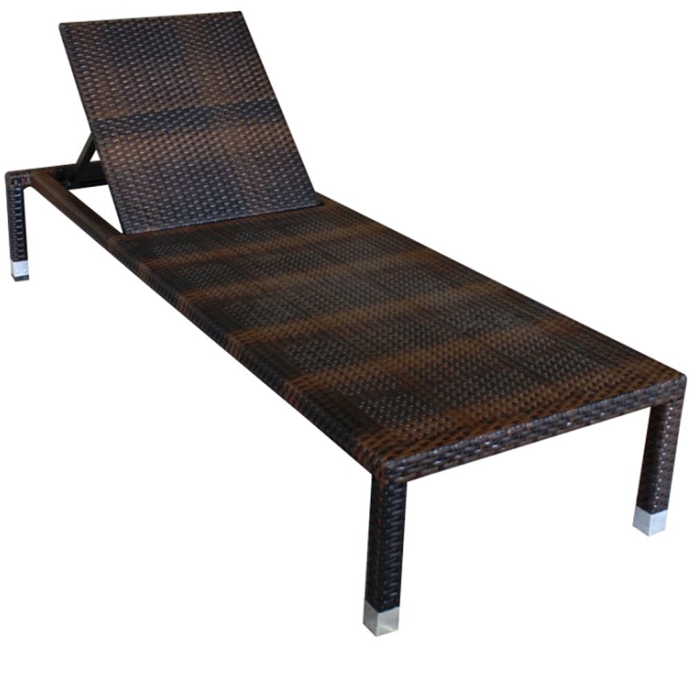 Lettini Prendisole In Rattan.Sam Garden Sun Bed For Lounge Bars Or Hotels In Aluminium And