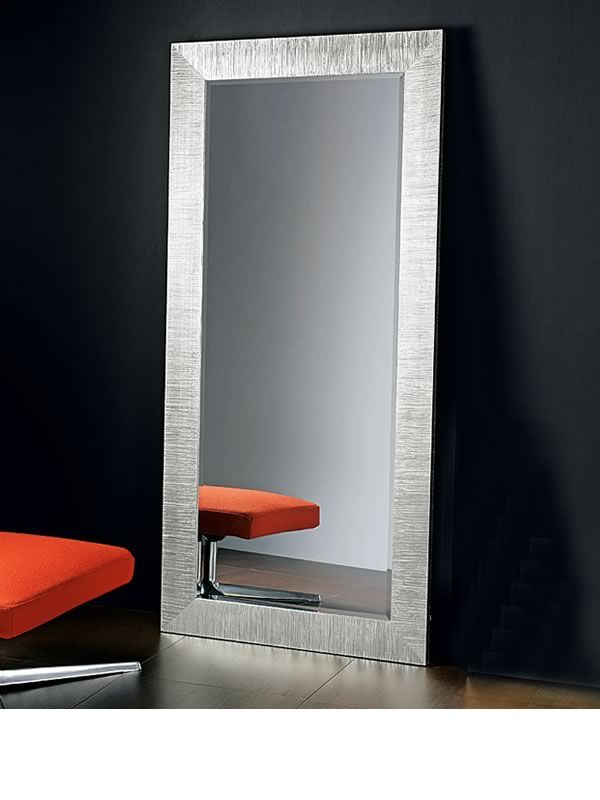 Diva s espejo con marco de madera decoraci n con hoja de for Espejo rectangular con marco de madera