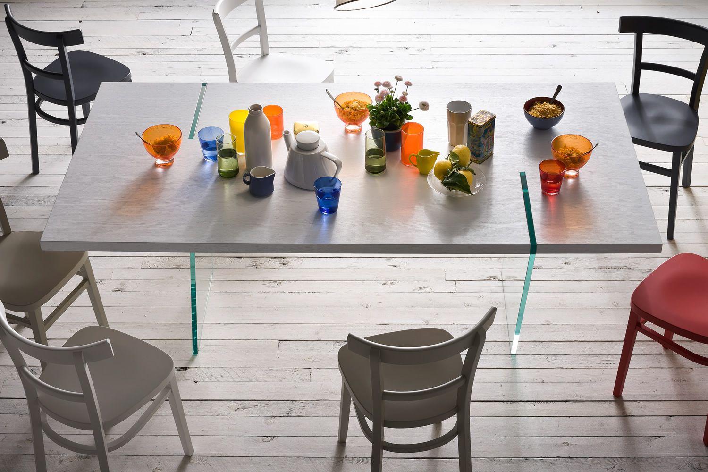 Alceo tavolo fisso di design 160x90 cm con gambe in for Tavolo di design
