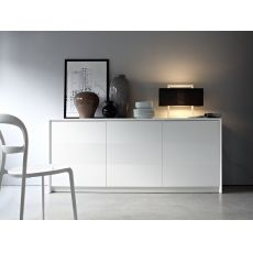 CB6031-2 Password - Connubia - Calligaris sideboard made of lacquered wood, three doors, 185 x 52 cm