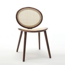 Jonathan 2013 Wood - Sedia design di Tonon, in legno e canna naturale