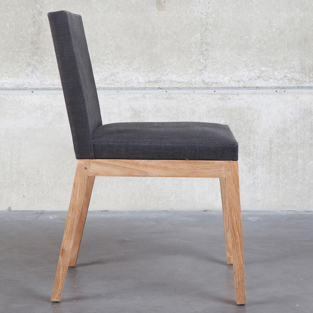 Innenarchitektur Stühle Mit Stoffbezug Sammlung Von B1 - Stuhl Aus Teakholz, Gepolsterter Sitz