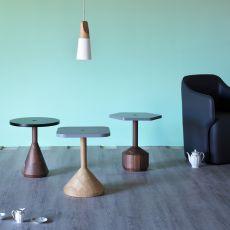 Pezzo T - Tavolino Miniforms in legno, piano in mdf
