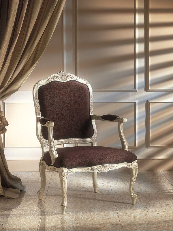 vst127 fauteuil en bois classique rembourr e diff rents coloris et rev tements sediarreda. Black Bedroom Furniture Sets. Home Design Ideas