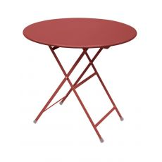 Arc En Ciel 346 - Emu table in metal, folding, available with round top