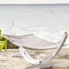 Cay - Amaca autoportante in legno, diversi colori disponibili, per esterno