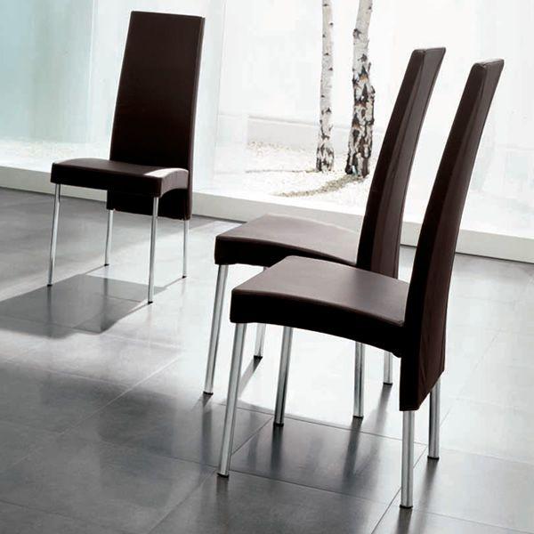 charonne 7265 stuhl tonin casa aus metall mit bezug aus leder stoff oder kunstleder in. Black Bedroom Furniture Sets. Home Design Ideas