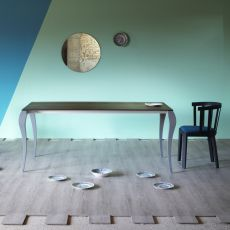 Ghost - Miniforms rectangular table in wood, extendible, available in different dimensions
