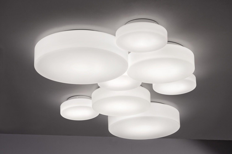 Makeup - Lampada a soffitto o parete di design, in metallo e vetro ...