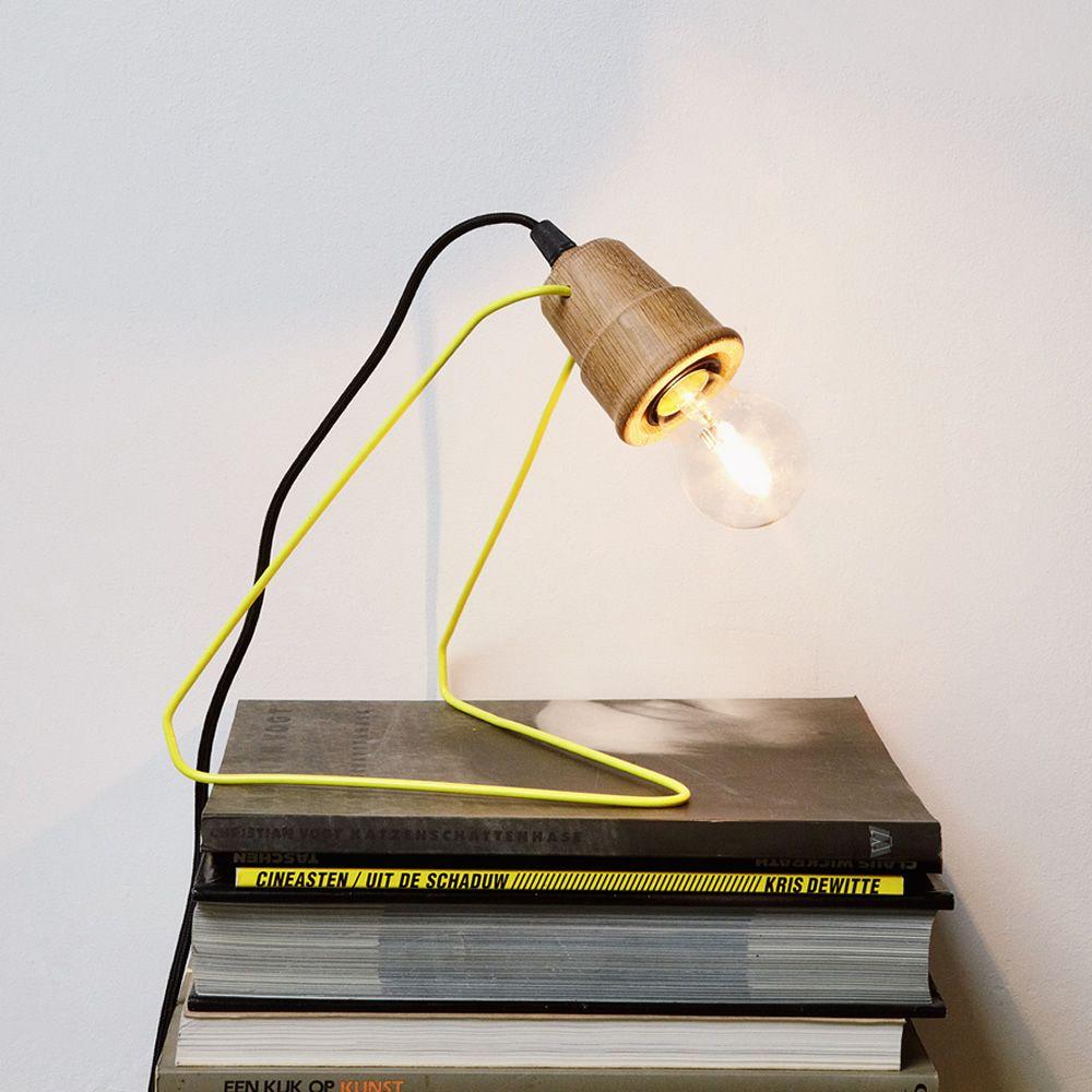 Wattman  Lampada da tavolo in metallo laccato giallo, con ...