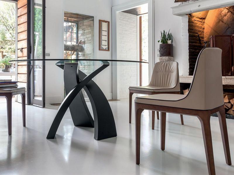eliseo 8028 tisch tonin casa aus metall mit glasplatte sediarreda. Black Bedroom Furniture Sets. Home Design Ideas