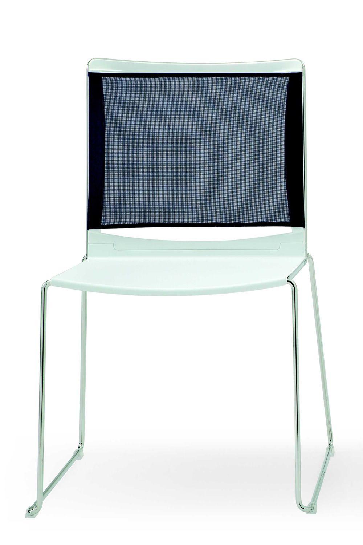 Ml177 sedia per sala d 39 attesa con sedute in plastica e for Sedia per sala d attesa