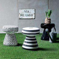 inout 44 beistelltisch pouf gervasoni aus keramik auch f r den garten sediarreda. Black Bedroom Furniture Sets. Home Design Ideas