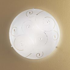 FA3138 - Ceiling lamp made of metal and glass, different sizes available