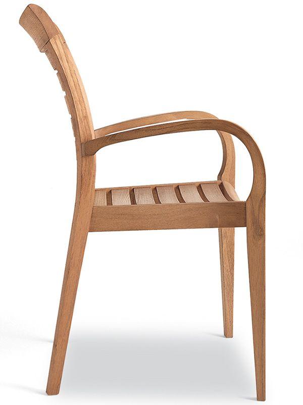 Mirage b sill n para jard n de madera robinia sediarreda for Sillon jardin madera