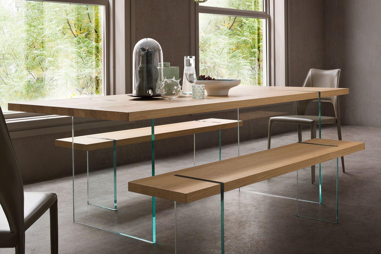 Agazia t tavolo fisso di design 160x90 cm con gambe in - Tavoli da divano ...